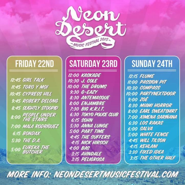 Neon Desert Lineup
