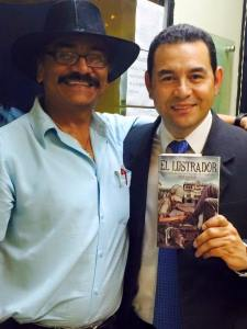 Mr. Corado with Guatemala President Jimmy Morales